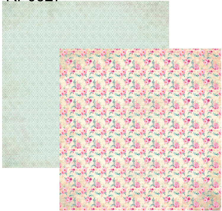 RP0327 Springtime Collection - Small Flowers Double-sided patterned paper 12x12 200 gsm