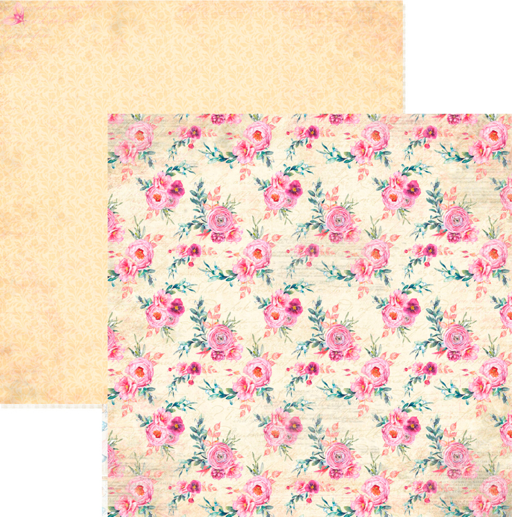 RP0328 Springtime Collection - Big Flowers Double-sided patterned paper 12x12 200 gsm
