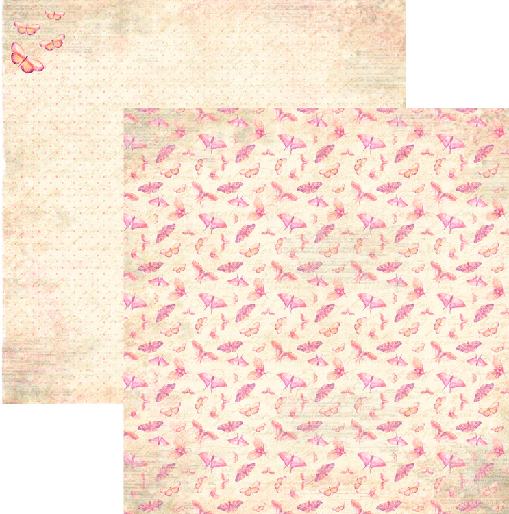 RP0329 Springtime Collection - Butterflies Double-sided patterned paper 12x12 200 gsm