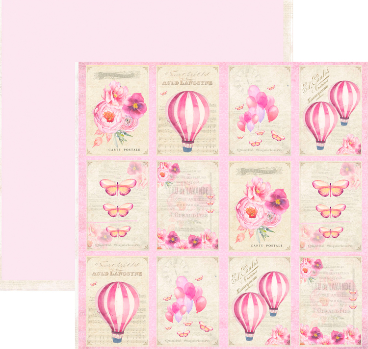 RP0331 Springtime Collection - Tags Double-sided patterned paper 12x12 200 gsm