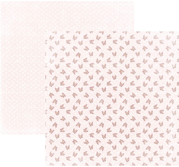 RP0344 It´s a girl Collection - Butterflies Double-sided patterned paper 12x12 200 gsm