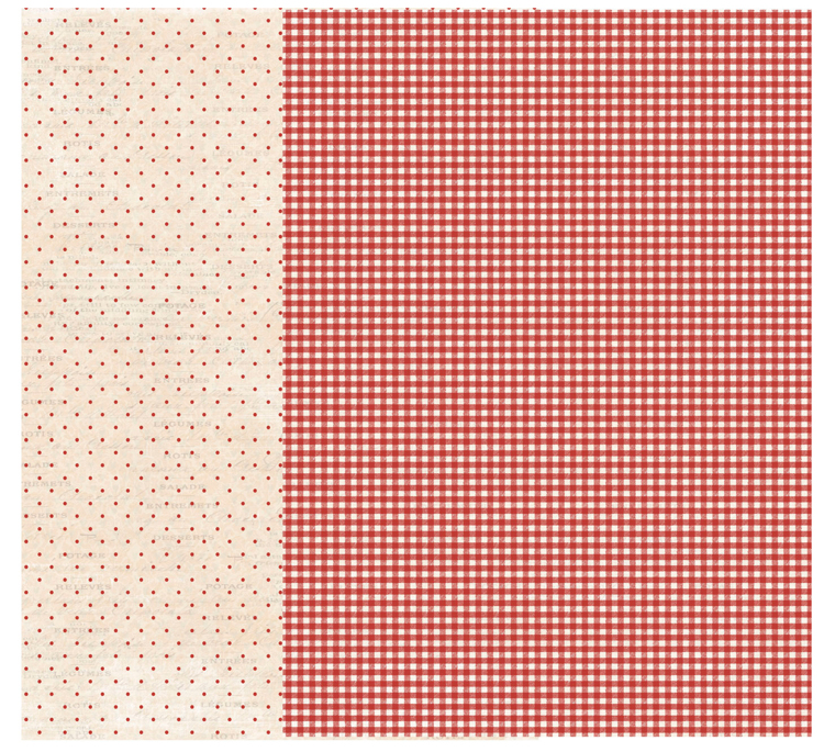 RPA4013 Red Checkered A4 Patterned paper, 200gsm, doublesided