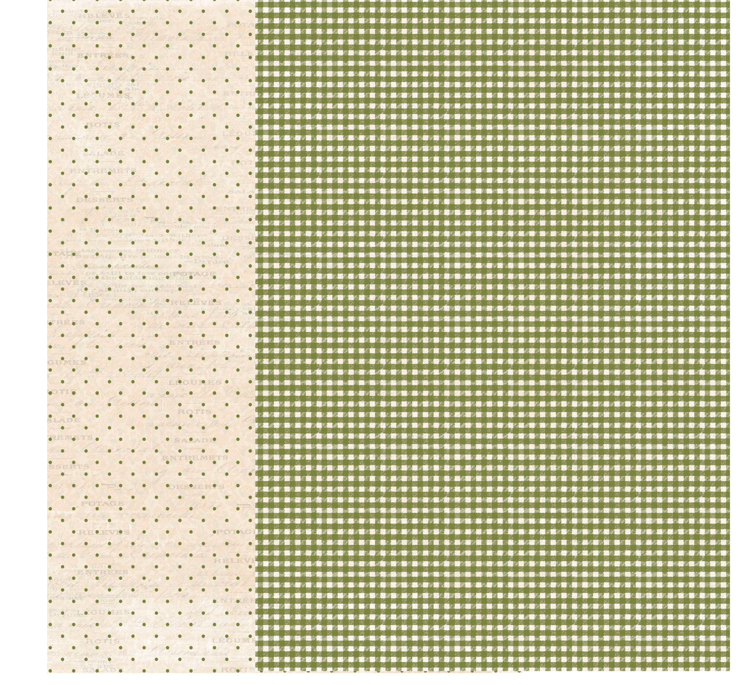 RPA4014 Green Checkered A4 Patterned paper, 200gsm, doublesided