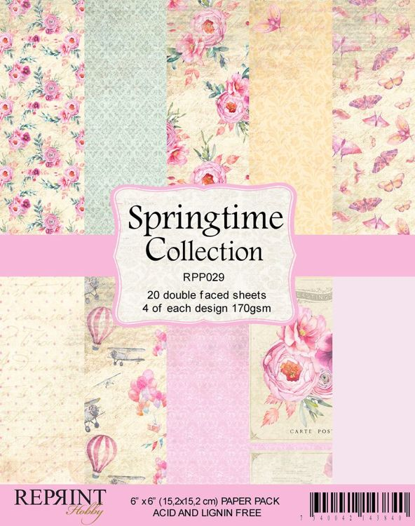 RPP029 Springtime collection pack 4, total 20 papers