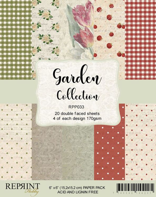 RPP033 Garden collection pack 4 of each, total 20 papers
