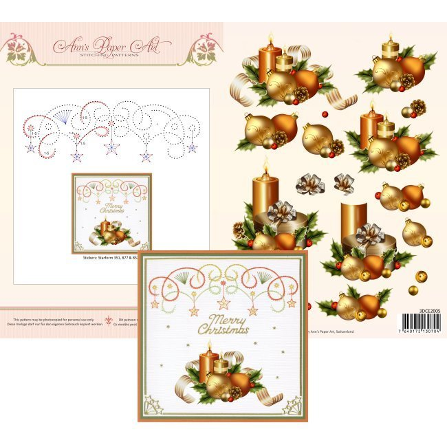 3DCE2005 3D Card Embroidery Sheet 5 Holiday Decor