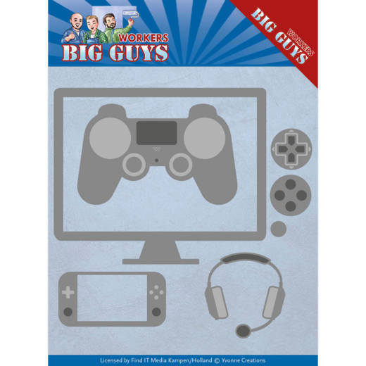 YCD10205 Dies - Yvonne Creations - Big Guys - It's Game Time