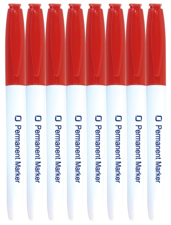 8.9022 Permanent Markers Red 8x