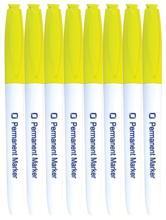 8.9024 Permanent Markers Yellow 8x