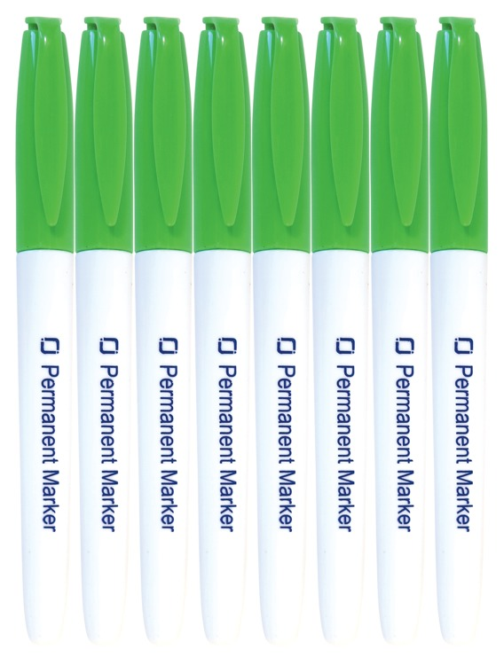 8.9025 Permanent Markers Green 8x