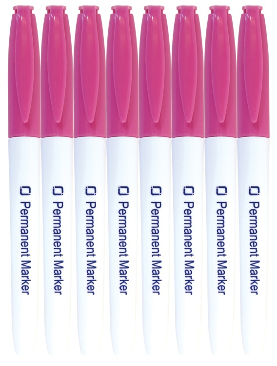 8.9027 Permanent Markers Pink 8x
