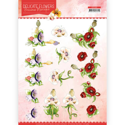 CD11489 3D Cutting sheet - PM - Delicate Flowers - Poppy (HJ183)