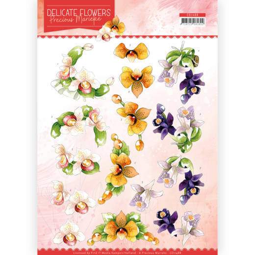 CD11488 3D Cutting sheet - PM - Delicate Flowers - Orchid (HJ183)