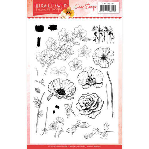 PMCS10044 Clear Stamps - PM Delicate Flowers (HJ183)