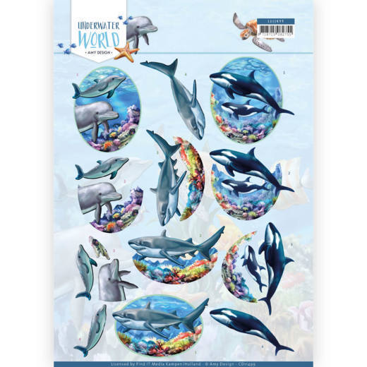 CD11499 3D Cutting Sheet - Amy Design - Underwater World - Big Ocean Animals
