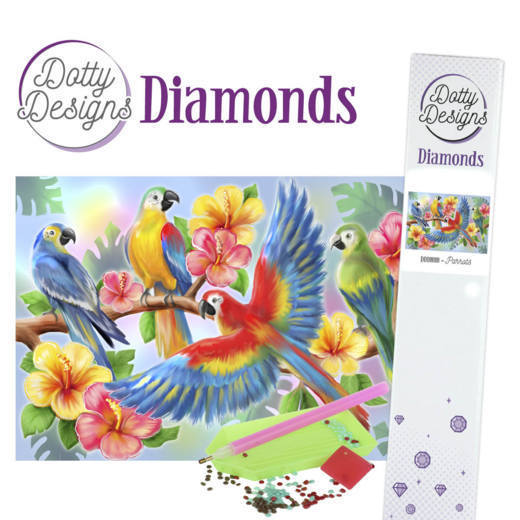 DDD1010 Dotty Designs Diamonds - Parrot