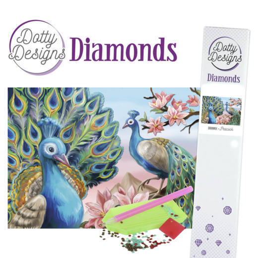 DDD1012 Dotty Designs Diamonds - Peacock