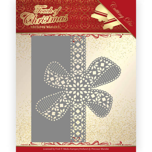 PM10183 Dies - Precious Marieke - Touch of Christmas - Christmas Bow Border (HJ184)