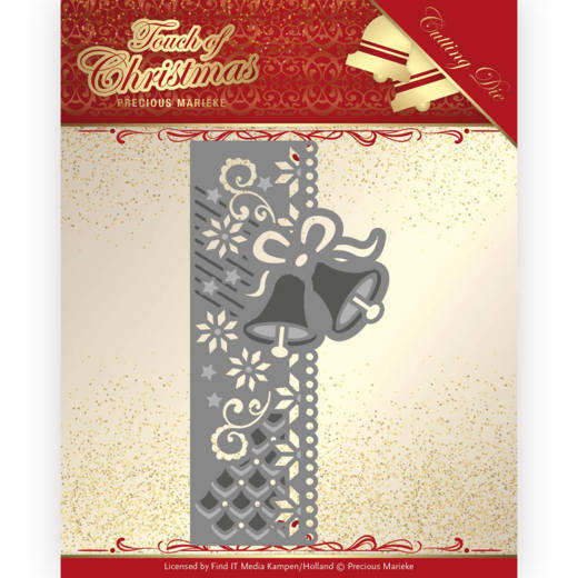 PM10184 Dies - Precious Marieke - Touch of Christmas - Christmas Bells Border (HJ184)
