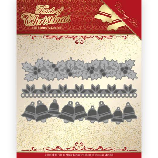 PM10186 Dies - Precious Marieke - Touch of Christmas - Christmas Borders (HJ184)