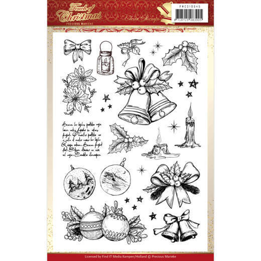 PMCS10045 Clear Stamps - Precious Marieke - Touch of Christmas (HJ184)