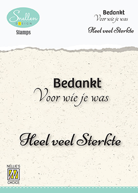 DCTCS004 Dutch Condolence Text Clear Stamps nr. 4 Bedankt voor wie je was