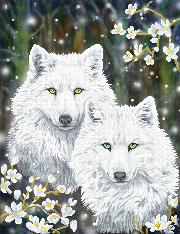 DD12.047 DIAMOND DOTZ® - 51x66cm - Winter Wolves