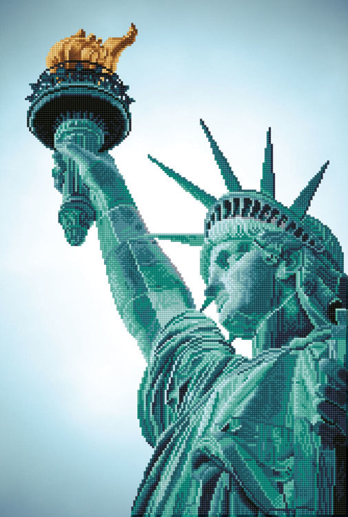 DD12.052 DIAMOND DOTZ® - 47x70cm - Statue of Liberty