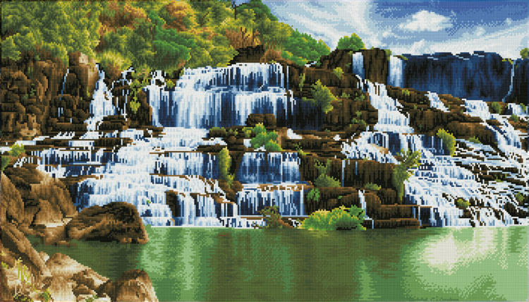 DD14.004 DIAMOND DOTZ® - 101x57cm - Pongour Waterfall