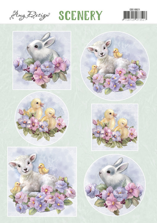 CDS10021 Push Out Scenery - Amy Design - Spring Animals