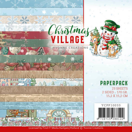 YCPP10033 Paperpack - Yvonne Creations - Christmas Village (HJ185)