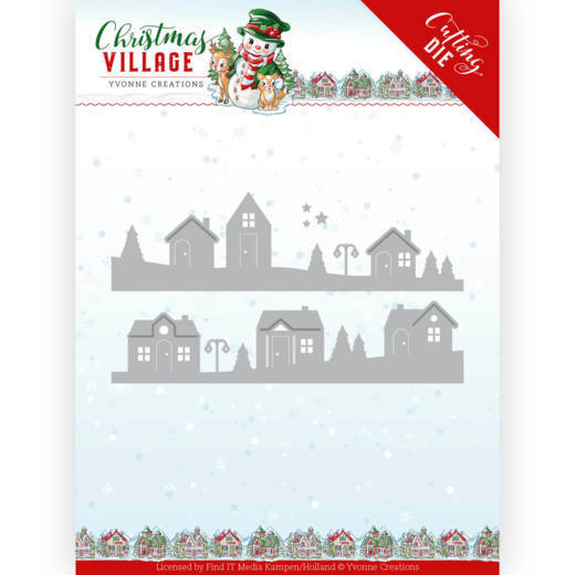 YCD10213 Dies - Yvonne Creations - Christmas Village - House Scene (HJ185)