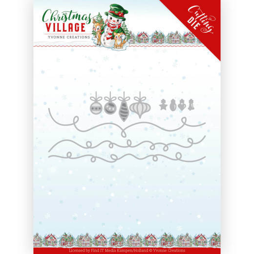 YCD10212 Dies - Yvonne Creations - Christmas Village - Christmas Lights (HJ185)
