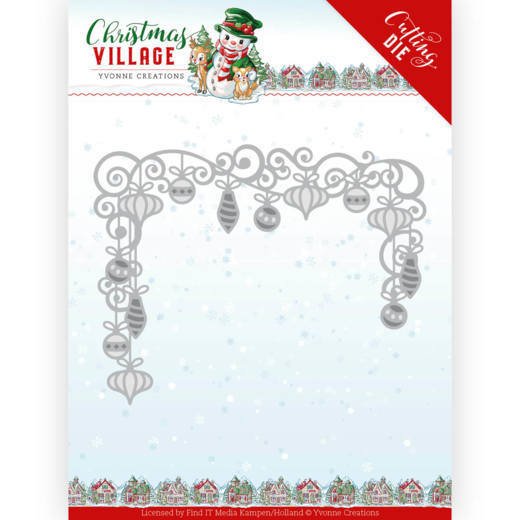 YCD10211Dies - Yvonne Creations - Christmas Village - Christmas Baubles (HJ185)