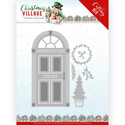 YCD10210 Dies - Yvonne Creations - Christmas Village - Christmas Door (HJ185)