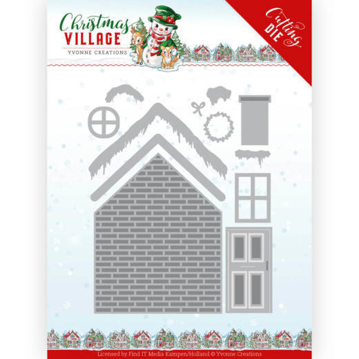 YCD10209 Dies - Yvonne Creations - Christmas Village - Build Up House (HJ185)