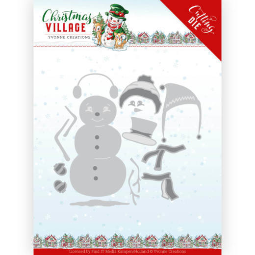 YCD10208 Dies - Yvonne Creations - Christmas Village - Build Up Snowman (HJ185)