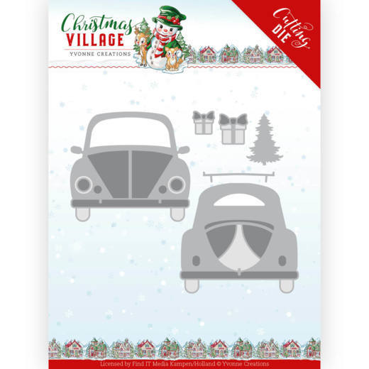 YCD10207 Dies - Yvonne Creations - Christmas Village - Christmas Car (HJ185)