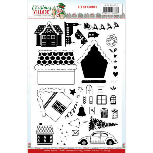 YCCS10059 Clear Stamps - Yvonne Creations - Christmas Village (HJ185)