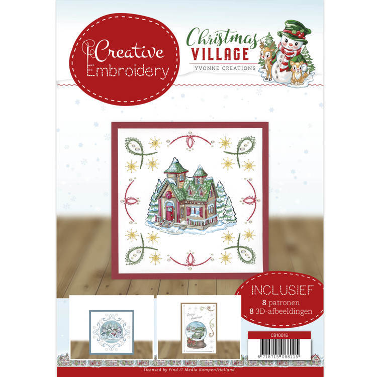 CB10016 Creative Embroidery 16 - Yvonne Creations - Christmas Village (HJ185)