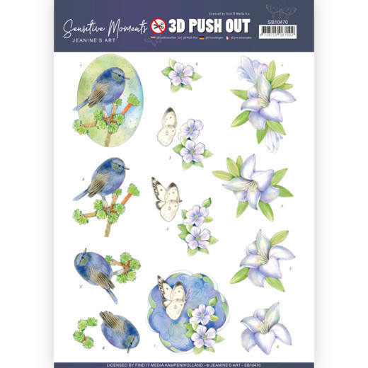 SB10470 3D Push Out - Jeanine's Art - Sensitive Moments - Lily