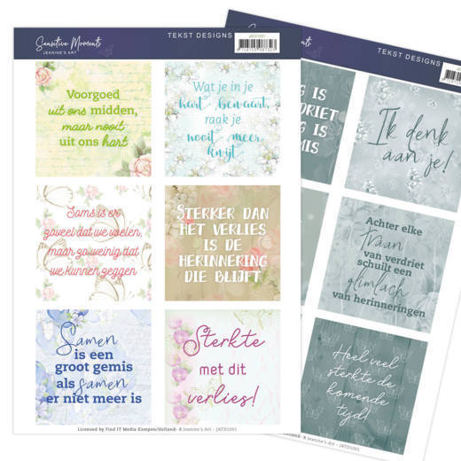 JATD1001 1 Tekst Designs - Jeanine's Art - Sensitive Moments (NL)