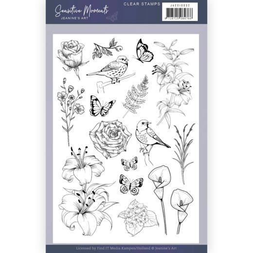 JACS10032 Clear Stamps - Jeanine's Art - Sensitive Moments