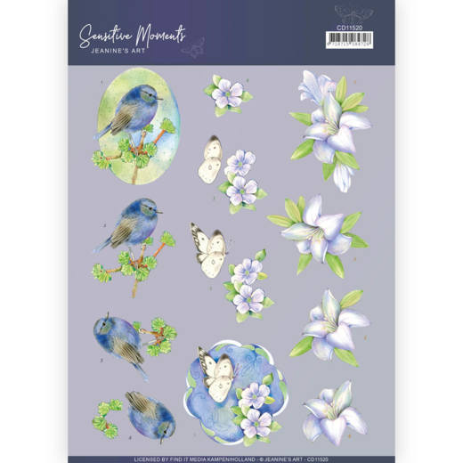 CD11520 3D Cutting Sheet - Jeanine's Art - Sensitive Moments - Lily