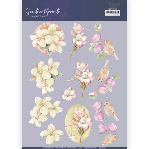 CD11518 3D Cutting Sheet - Jeanine's Art - Sensitive Moments - Freesias