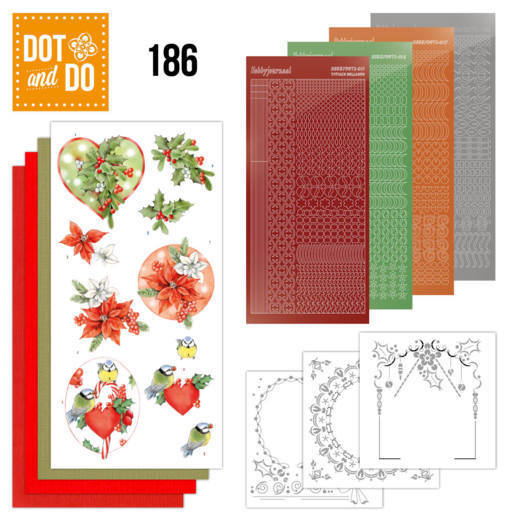 DODO186 Dot and Do 186 - Jeanine's Art - Red Holly Berries