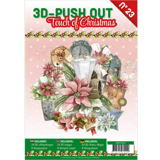 3DPO10023 3D Push Out boek 23 - Touch of Christmas