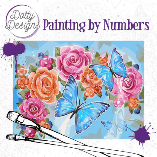 DDP1002 Dotty Design Painting by Numbers - Butterflies