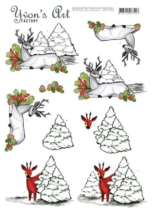 CD11549 3D Cutting Sheet - Yvon's Art - Deer