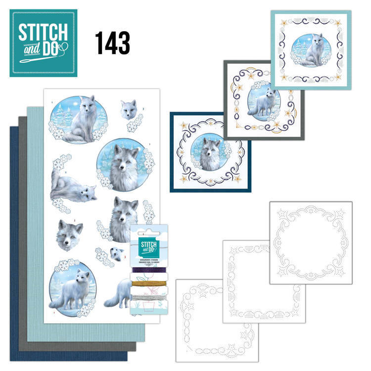 STDO143 Stitch and Do 143 - Amy Design - Winter Foxes